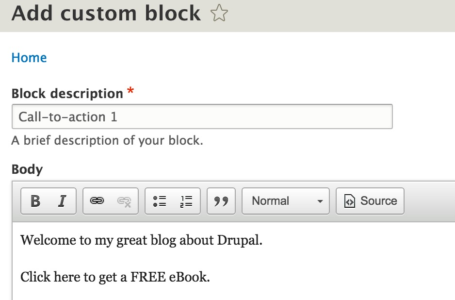 How to create and display blocks in Drupal 8